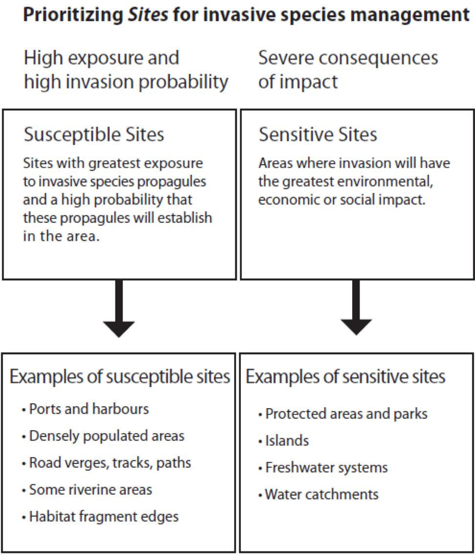 Prioritizing sites